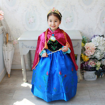 Beauty Tea-Length Essar Pricess Flower Girl Dress Cosplay Party Gowns 20... - $19.66