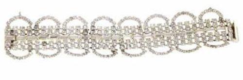 Vintage  Wide Rhinestone Bracelet For Costume Parts 1950S