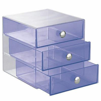 3 Drawers Jewelry Makeup Vanity Storage Organizer Bathroom Room Clear Holder NEW