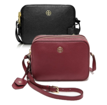 TORY BURCH Robinson Pebbled Double Zip Crossbody for Woman with Free Gift - $249.00