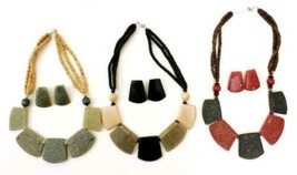 Stone Clip On Necklace Set (Per One) - $10.00