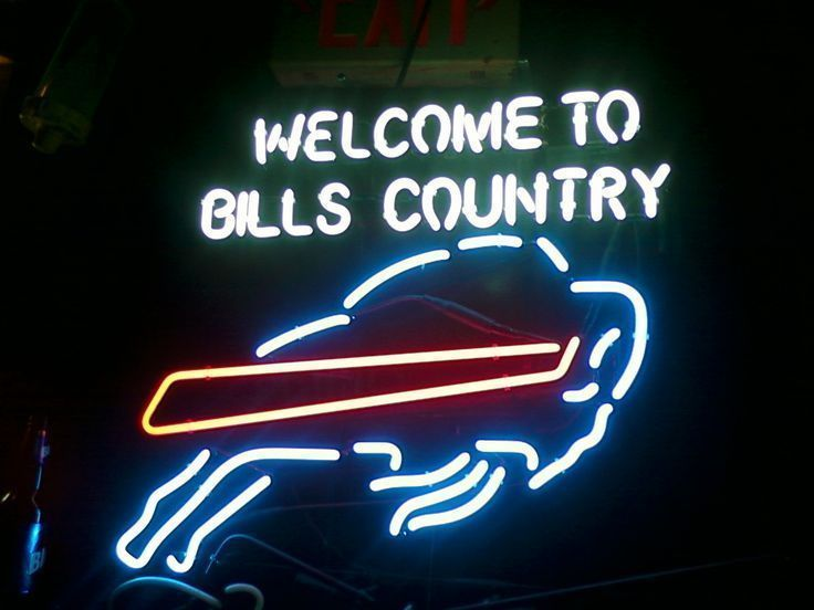 """New Buffalo Bills NFL Welcome To Bills Country Beer Neon Sign 24""""x20"""""""