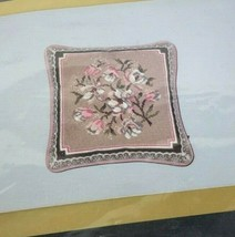 Create Your Own Needlepoint Kit Dogwood & Lace Pillow 14x14 Vintage   - $49.49