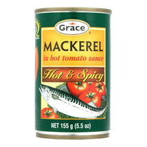Grace Mackerel in Tomato Sauce 5.5 oz Tin Hot and Spicy - $7.69