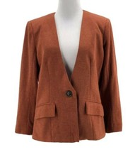 Cartonnier Anthropologie Women's Rust Orange Long Sleeve Knit Blazer Siz... - $34.65