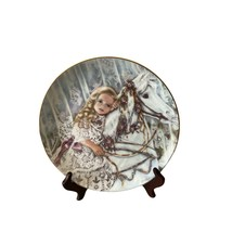 Tess 1990 collectors plate Edwin Knowles Heirloom and Lace Series Corinne Layton - $10.99