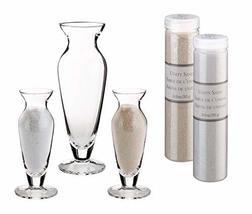 Lillian Rose Wedding Unity Sand Ceremony Vase Set, 2.5x2.5x8.25, Clear - $57.23