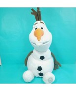 "Disney Store Olaf Plush Frozen Snowman Authentic Patch Stuffed Animal 17""  - $18.80"