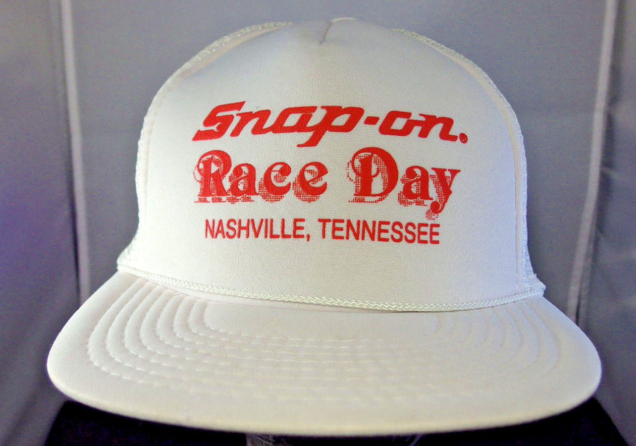 Primary image for Vintage Snap-On Race day Nashville TN Trucker Cap hat