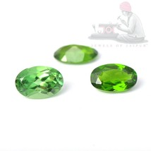 Natural Chrome Tourmaline 6x4mm Oval Cut 3 Pieces Top Quality Loose Gems... - $36.09