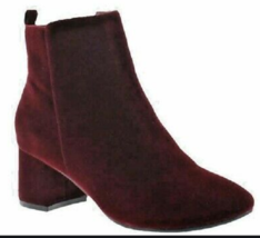 Sporto ROSE Water Resistant Velvet Upper Ankle Boot Wine 12W NEW - €46,55 EUR