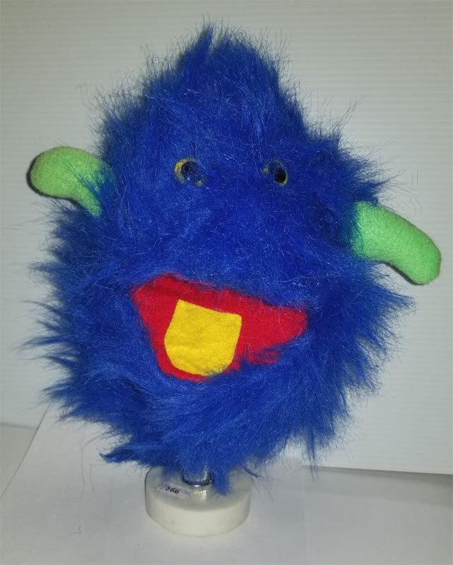 "B2 * Professional Blue & Green ""Furgremlin"" Muppet Style Ventriloquist Puppet"