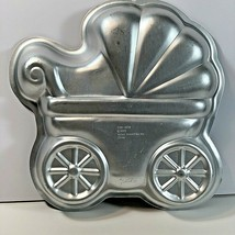 Wilton Cake Pan 2105-3319 Baby Shower Buggy Stroller Carriage Aluminum 2005 - $10.88