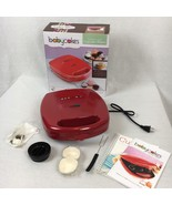 Babycakes Cupcake & Pie Maker 8 Mini Red Nonstick Coated Bonus Items NEW! - $29.59
