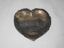 "Neat Vintage 4"" X 4"" Metal Heart Souvenir Tray Chicago Illinois Art Inst... - $38.56"