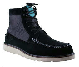 Diamond Supply Black Suede G.I. Ankle Moc Work Boots NIB image 1