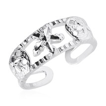 Womens Top Quality Fashion Toe ring with Starfish in Solid Sterling Silver - $24.75