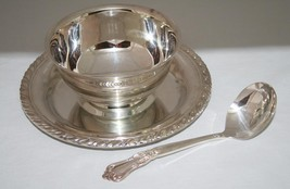 Oneida Maybrook Silverplated Sauce Gravy Bowl with Ladle in Box  -EUC-  ... - $28.00
