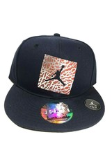 NIKE AIR JORDAN RETRO JUMPMAN HAT BLACK FITTED VINTAGE CAP 90'S 406553 010  - $29.99