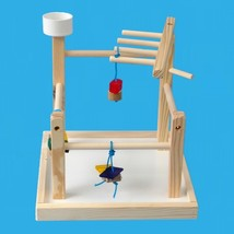 Bird Play Gym with Base-Cockatiels,Conures,Senegals , With 1 Treat Cup 4... - £21.39 GBP