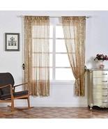 Sequin Room Darkening Window Treatment Panel Drape with Rod Pockets Cham... - $133.83