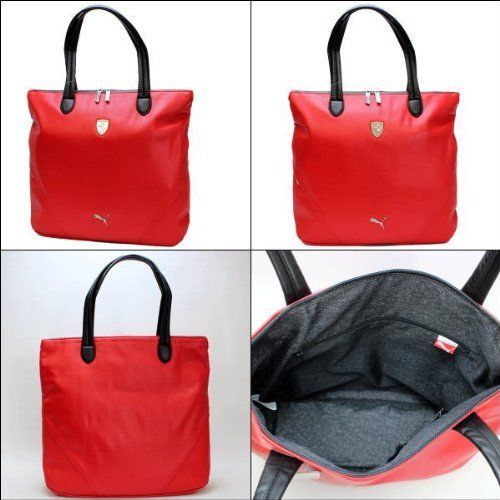 553aa35425 PUMA FERRARI WOMEN'S F1 TEAM SHOPPING TOTE LARGE BAG RED PMMO1033 NEW W/  DEFECTS