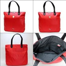 PUMA FERRARI WOMEN'S F1 TEAM SHOPPING TOTE LARGE BAG RED PMMO1033 NEW W/ DEFECTS image 3