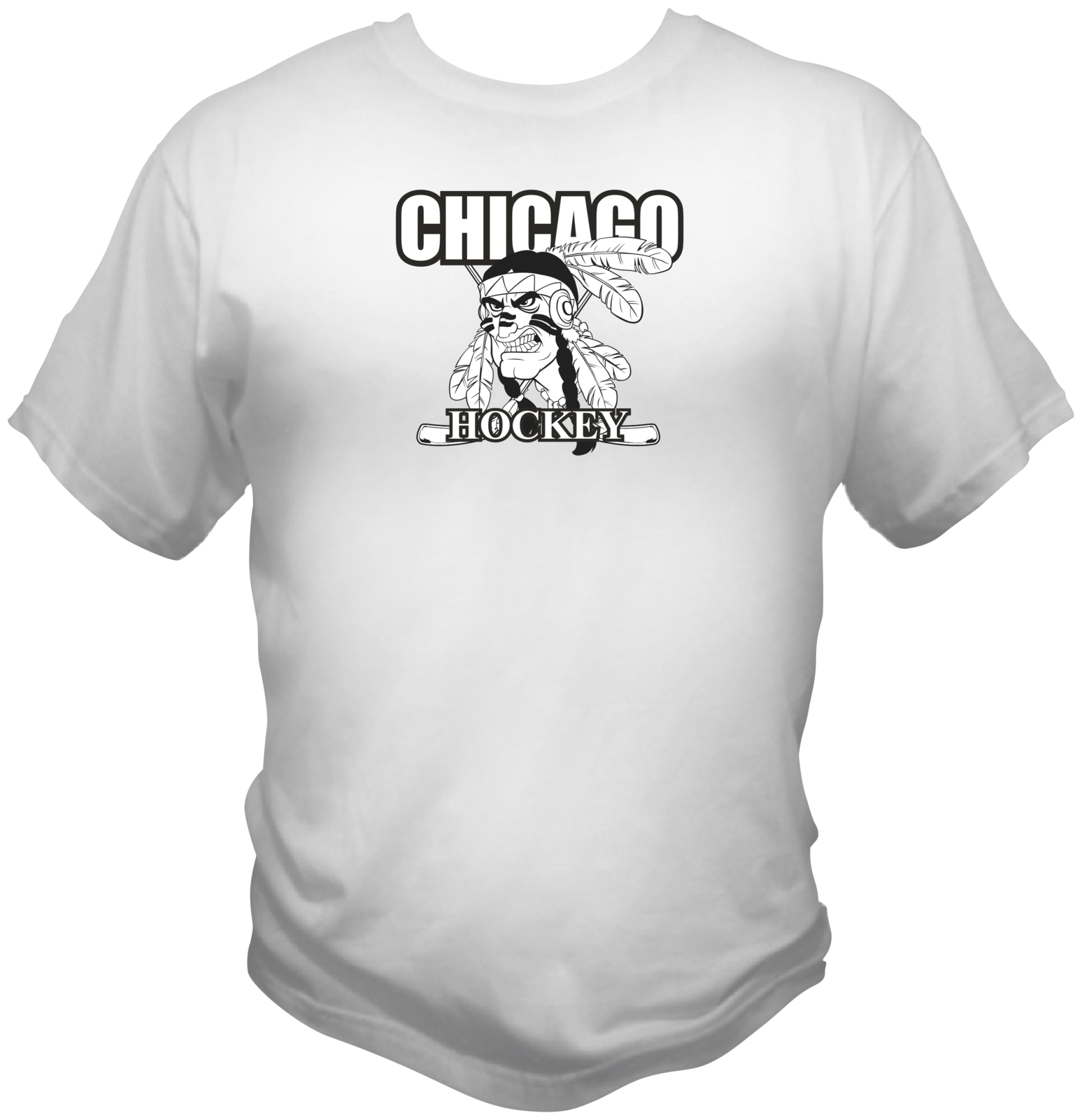 Chicago hockey feather white