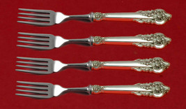 Grande Baroque by Wallace Sterling Silver Fish Fork Set 4-Piece Custom 7... - $315.81