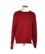 Polo Golf Ralph Lauren Men Sweater Size Medium Red Crew Neck Long Sleeve... - $16.34