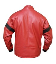 Mens Smokey and The Bandit Red Bomber Leather Jacket image 4