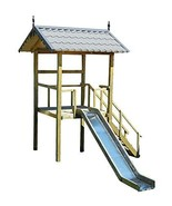 Playhouse Slide Plans DIY Children Outdoor Playset Kids Wood Shelter Pla... - $21.95