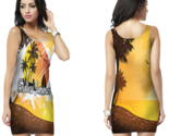 Tropical surfing bodycon dress for women thumb155 crop