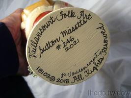 Vaillancourt Folk Art Wine Santa Signed by Judi Vaillancourt image 7