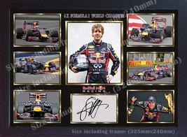 Sebastian Vettel signed autograph photo poster print Framed size 32cm x ... - $19.27