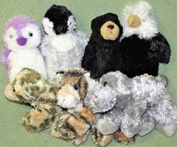 AURORA World FLOPSIES Mini Plush Stuffed Animals EAGLE Penguin LEOPARD T... - $23.38