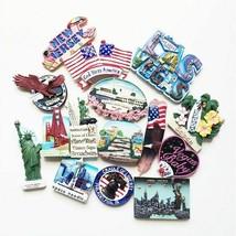 Fridge Magnet USA New York Washington Souvenir Refrigerator Home Decorat... - $21.49+