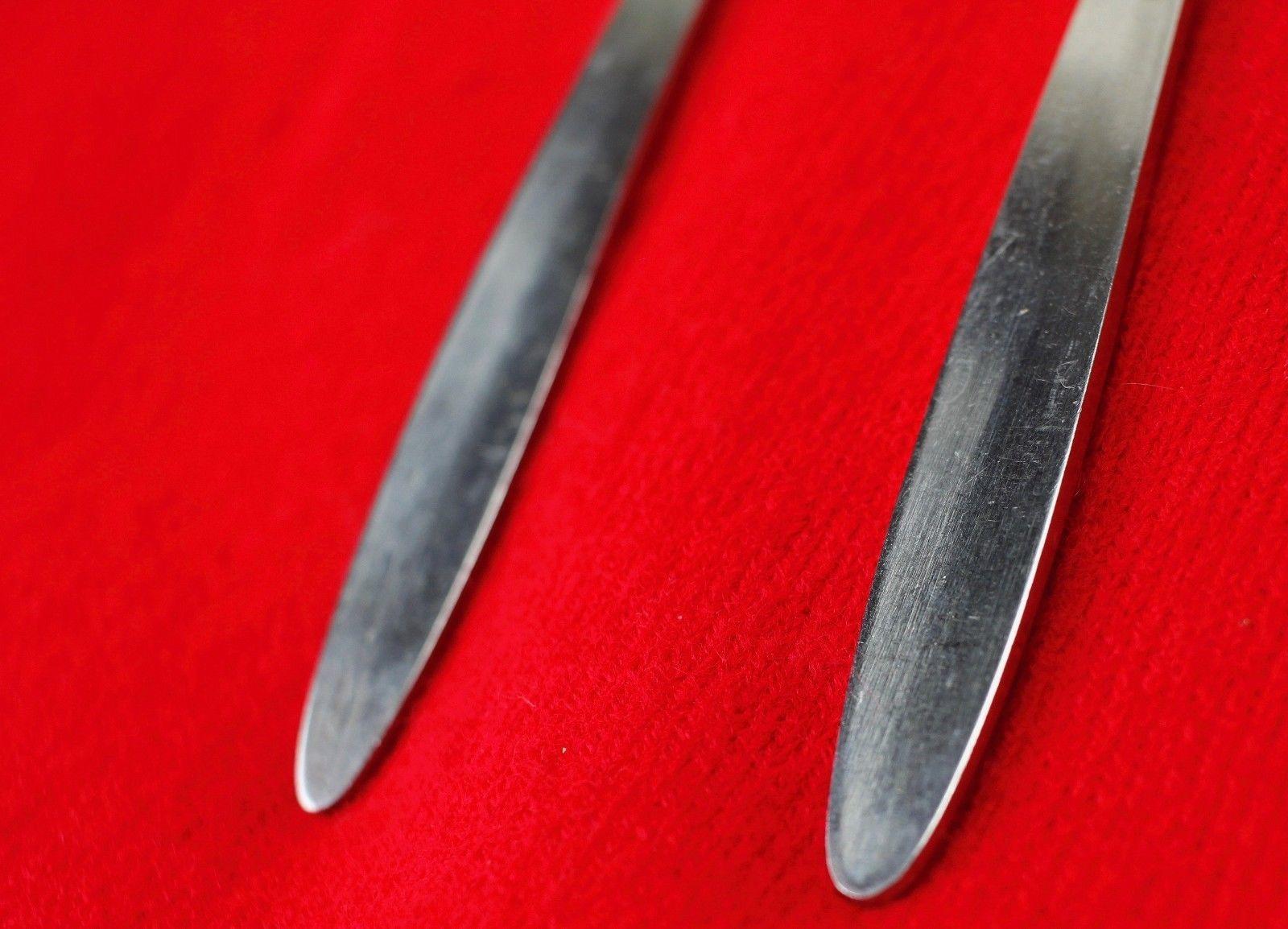 "2X Teaspoons Spoons Englishtown ENS2 Stainless Glossy Flatware 6 1/4"" Tea Spoon"