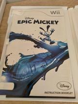 Nintendo Wii Disney Epic Mickey ~ COMPLETE image 2