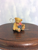 Cherished Teddies Photo Holder Mini Teddie With A Necklace 2001 NIB - $14.20