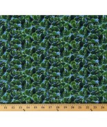 Cotton Cactus The Road Home Green Cotton Fabric Print by the Yard D676.27 - $12.95