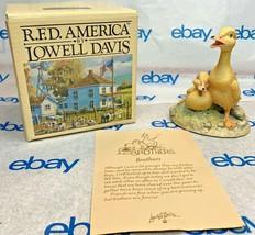 """Lowell Davis """"Brothers"""" Figurine  1987 Schmid IOB Card Ducks - $61.86"""