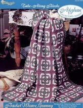 Basket Weave Granny Afghan Take Along Blocks Crochet PATTERN/INSTRUCTIONS/NEW - $1.77