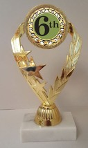 "Sixth Place 6th Place Trophy 7-1/4"" Tall  AS LOW AS $3.99 each FREE SHIP T02N18 - $7.99+"