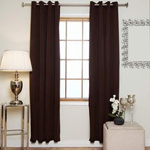 Blackout Curtain Chocolate Antique Brass Grommet Top Thermal Insulated 7... - $21.84