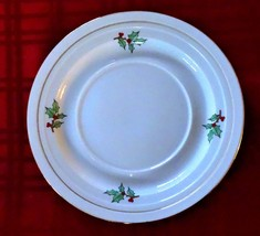 "CHRISTMAS SAUCER TIENSHAN HOLIDAY HOSTESS 6"" Tree Gold Gilt Accent - $3.33"
