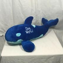 "Sea World Royal/Light Blue Killer Whale SHAMU Stuffed Animal Plush 18""  - $19.95"