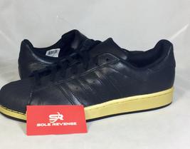 3b609a495f6c4 New adidas Originals SUPERSTAR Shelltoe Black Metallic Gold Men  39 s  BB8119 c1 -