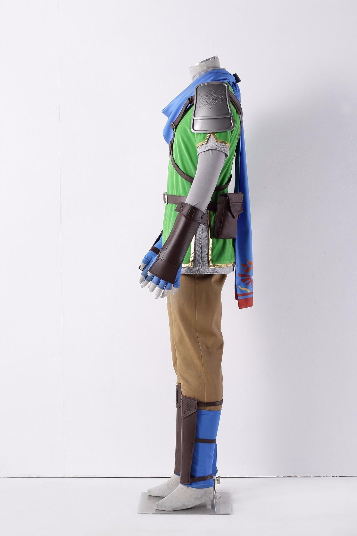The Legend of Zelda Hyrule Warriors Link Cosplay Costume Men Halloween Outfit