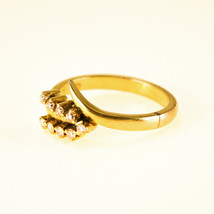 18k Yellow Gold Ring with Diamond Leaf - $434.90